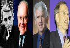 Клод Шенон (Википедија), Гордон Мур (Интел), Роберт Меткалф (Универзитет Тексас) и Џорџ Гилдер (Википедија)