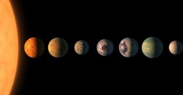Звезда Трапист-1 и пратиље (НАСА)