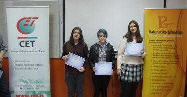 с лева на десно: Тајана Тодоровић, Јана Отковић, Ања Радоњић