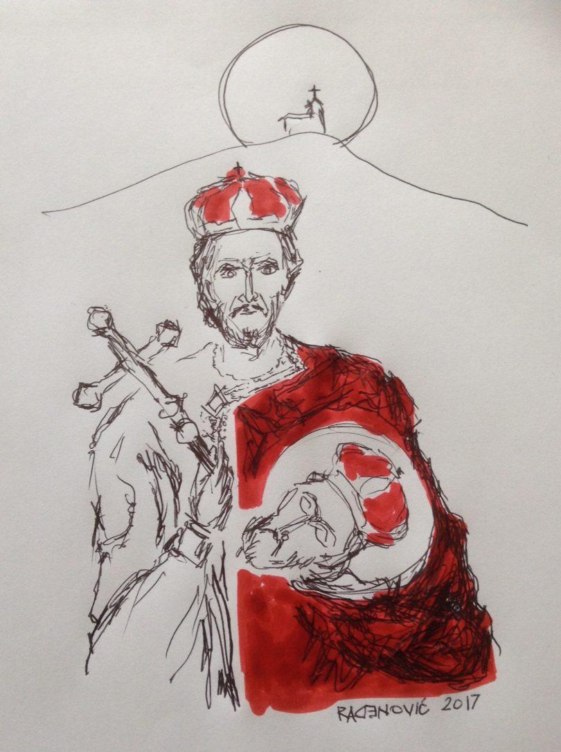 Јован Владимир (цртеж Драгана Раденовића)