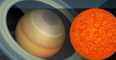 Сатурн (лево) и звезда (Кембриџ)