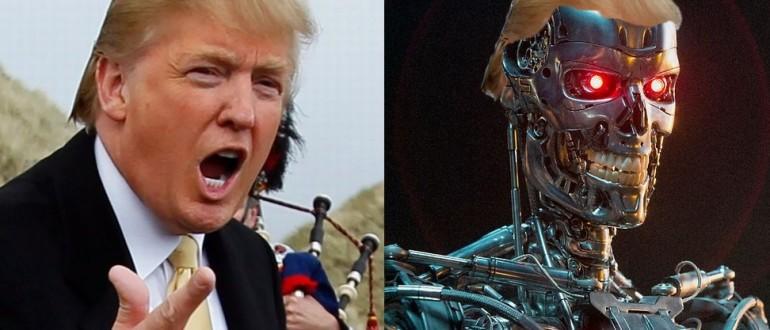 Трамп и робот (Википедија)