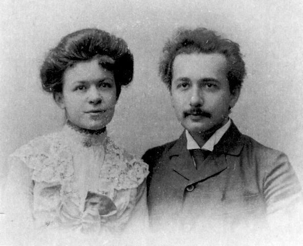 Милева и Алберт на венчању (Википедија)