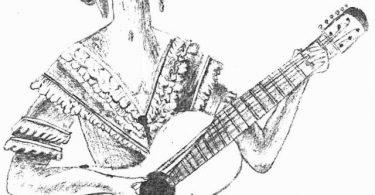 Devojka s gitarom (ilustracija autora)