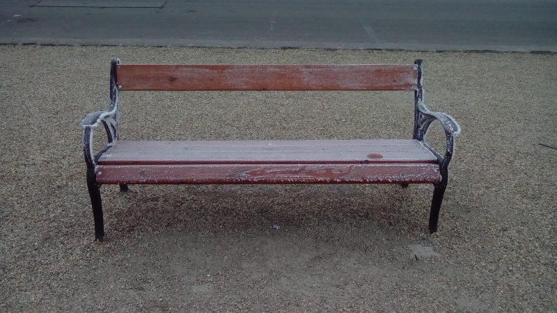 Усамљена клупа (Фото Александар Лукић)