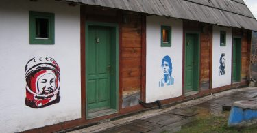 Grafiti Gagarina, Maradone i Kastra u Drvengradu (Vikipedija)
