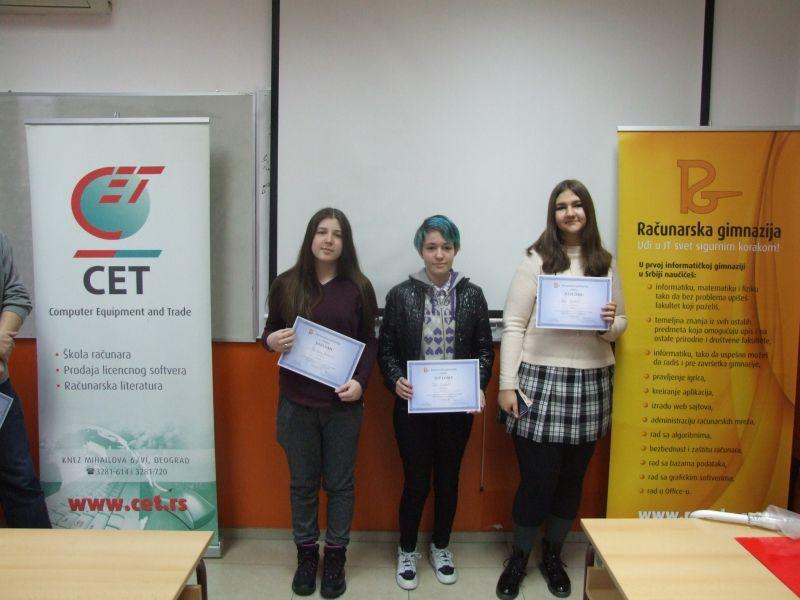 s leva na desno: Tajana Todorović, Jana Otković, Anja Radonjić