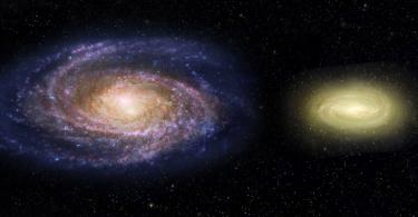 Млечни пут (лево) и мртва галаксија (НАСА)