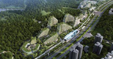 Pogled na buduće naselje (Stefano Boeri arhitekti).