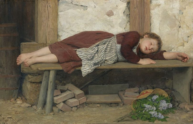 Uspavana devojčica (Albert Anker)